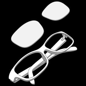 Glazen in bril
